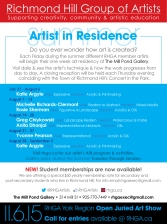 RHGA August/15 Artist in Residence York Culture Ad