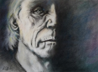 "Wisdom 20x16"" Charcoal and Soft Pastel on Paper Original -$650 Prints - please contact"