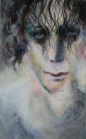 """Shadow Strands 13x20"""" Charcoal and Soft Pastel on Paper Original -$550 Prints - please contact"""