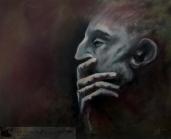 "Pensive 22x18"" Oil on canvas Original - $900 Prints - please contact"