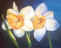 Ella Daffodils Acrylic