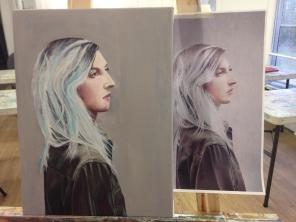Emi 1st Portrait Acrylic